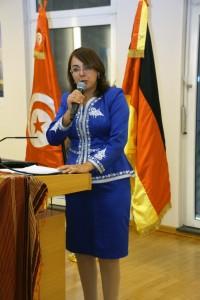 Unterstützt das Shatranj-Revival: Tunesiens Konsulin in Hamburg, Frau Sonia Ben Amor. Foto: Bernd-Jürgen Fischer