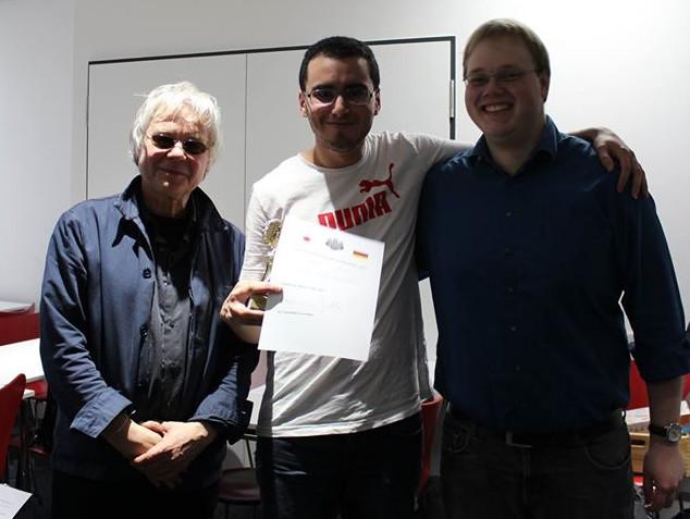 Bilal Dardour (m.), Turniersierger mit den beiden Organisatoren René Gralla (l.) und Fabian Krahe (r.). Foto by Michaela Baumgarth
