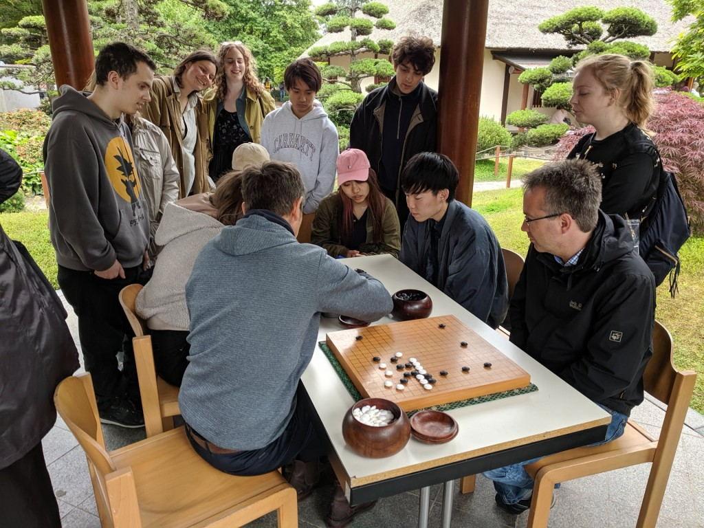 Auch die Gô-Spieler konnten sich über zahlreiche Besucher freuen.